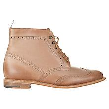 Buy Jigsaw William Morris Leather Brogues, Tan Online at johnlewis.com