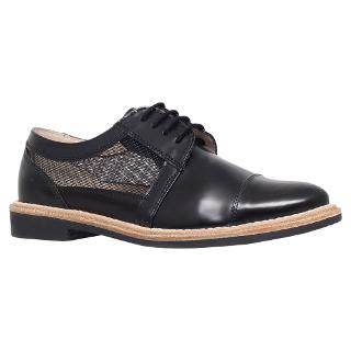 Buy KG by Kurt Geiger Lingo Flat Brogues, Black Leather Online at johnlewis.com