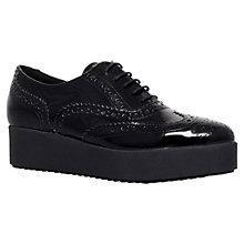 Buy Carvela Leslie Patent Leather Brogues, Black Online at johnlewis.com
