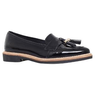 Buy KG by Kurt Geiger Lucien Patent Leather Loafers, Black Online at johnlewis.com