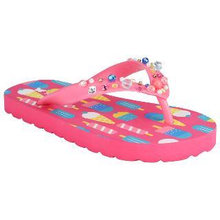 Buy John Lewis Lollipop Glitter Flip Flops, Pink Multi Online at johnlewis.com