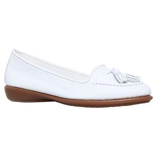 Buy Carvela Comfort Coco Leather Loafers, White Online at johnlewis.com