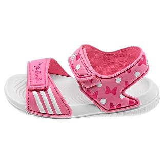 Buy Adidas Disney's Minnie Mouse Rip-Tape Sandals, Pink/White Online at johnlewis.com