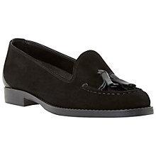 Buy Dune Galileo Suede Tassel Loafers, Black Online at johnlewis.com