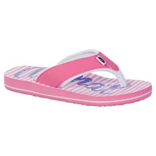 Buy Animal Children's Swish Flip Flops, Pink/White Online at johnlewis.com