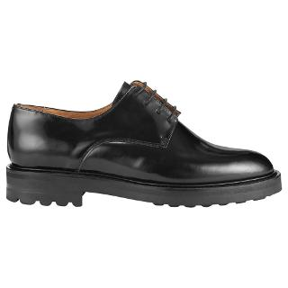 Buy Whistles Bayley Leather Shoes, Black Online at johnlewis.com