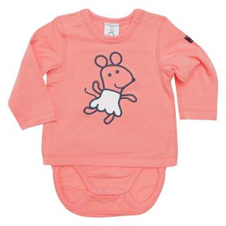 Buy Polarn O. Pyret Baby Mouse Combo Bodysuit, Pink Online at johnlewis.com