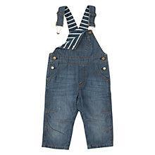 Buy Polarn O. Pyret Baby Denim Dungarees, Denim Online at johnlewis.com
