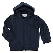 Buy Polarn O. Pyret Baby Hoodie, Navy Online at johnlewis.com