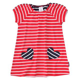 Buy Polarn O. Pyret Baby Striped Dress, Red Online at johnlewis.com