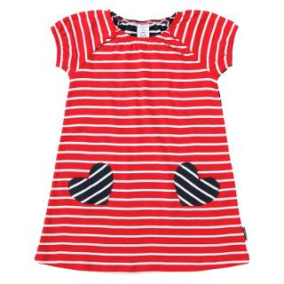 Buy Polarn O. Pyret Girls' Striped Dress, Red Online at johnlewis.com