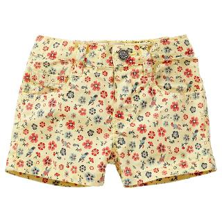 Buy Levi's Baby Flower Shorts, Yellow Online at johnlewis.com