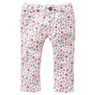 Buy Levi's Baby Floral Trousers, White Online at johnlewis.com