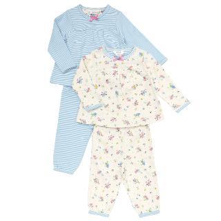 Buy John Lewis Baby's Floral And Stripe Print Pyjamas, Pack of 2, Blue/Multi Online at johnlewis.com