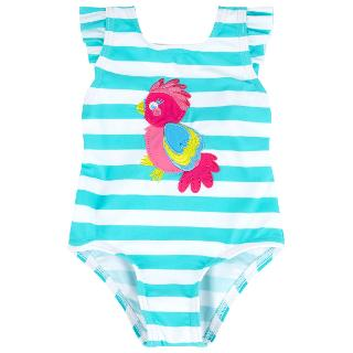 Buy John Lewis Stripe Parrot Swimsuit, Aqua/White Online at johnlewis.com