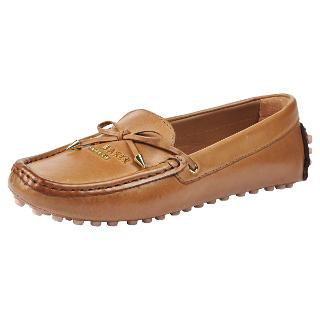 Buy Ted Baker Parnell Leather Flat Heeled Loafers, Tan Online at johnlewis.com