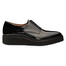 Buy Whistles Derris Leather Flatform Shoes, Black Online at johnlewis.com