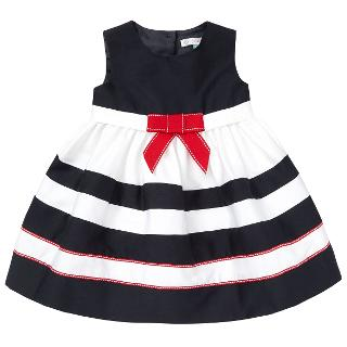 Buy John Lewis Baby's Striped Nautical Ribbon Dress, Navy/White Online at johnlewis.com