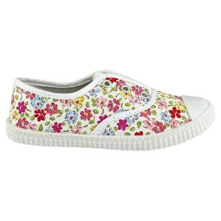 Buy Cath Kidston Garden Ditsy Canvas Shoes, Floral Spray Online at johnlewis.com