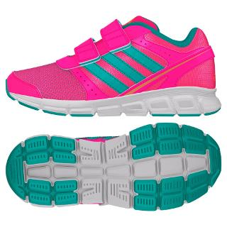 Buy Adidas Children's Hyperfast Running Trainers, Solar Pink/Mint Online at johnlewis.com