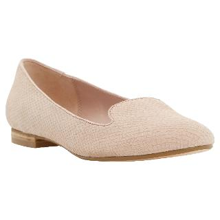 Buy Dune Limbo Snake Leather Loafers, Blush Online at johnlewis.com
