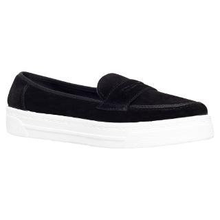 Buy Miss KG Lionel Flatform Slip On Loafers, Black Suede Online at johnlewis.com