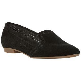 Buy Dune Glorie Suede Loafers, Black Online at johnlewis.com