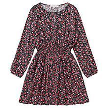 Buy Jigsaw Junior Girls' Rose Print Dress, Multi Online at johnlewis.com
