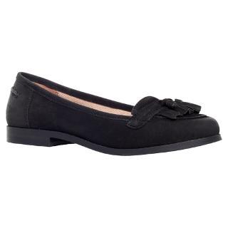 Buy Carvela Lottie Leather Loafers, Black Online at johnlewis.com