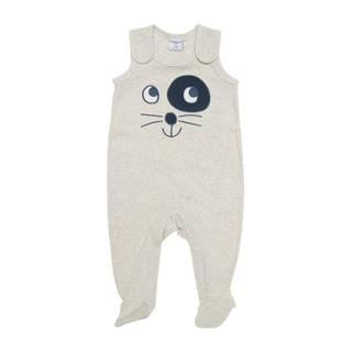 Buy Polarn O. Pyret Baby Cat Romper, Grey Online at johnlewis.com