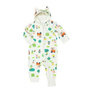 Buy Polarn O. Pyret Baby Farmyard Print Romper, White Online at johnlewis.com