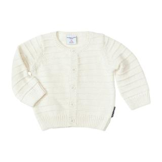 Buy Polarn O. Pyret Baby's Cotton Cardigan, White Online at johnlewis.com
