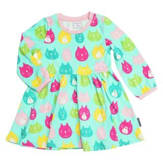 Buy Polarn O. Pyret Baby Cat Print Dress, Blue Online at johnlewis.com