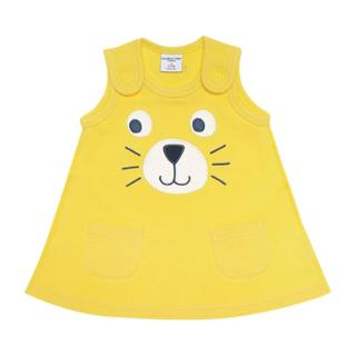 Buy Polarn O. Pyret Cat Face Dress, Yellow Online at johnlewis.com