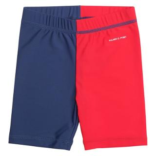 Buy Polarn O. Pyret Baby UV Sun Safe Shorts, Navy/Red Online at johnlewis.com