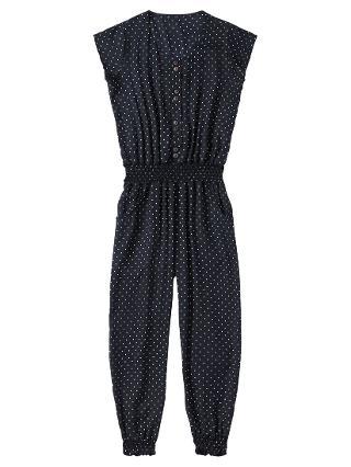 Buy Jigsaw Junior Girls' Polka Dot Jumpsuit, Navy Online at johnlewis.com