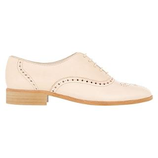 Buy Hobbs Percy Leather Lace Up Brogues, Nude Online at johnlewis.com