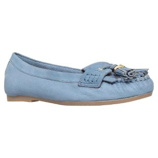 Buy Carvela Leah Leather Tassel Loafers, Blue Online at johnlewis.com