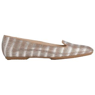 Buy L.K. Bennett Amy Flat Slip On Loafers, Silver Leather Online at johnlewis.com