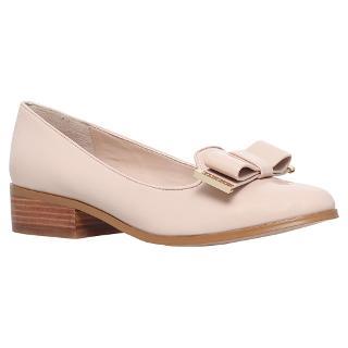 Buy Carvela Lauren Low Heeled Slip On Loafers, Nude Online at johnlewis.com
