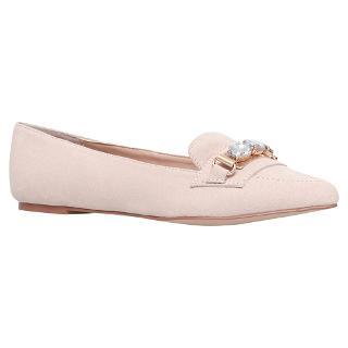 Buy Carvela Linky Flat Embellished Loafers, Nude Online at johnlewis.com
