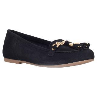 Buy KG by Kurt Geiger Lincoln Suede Tassel Moccasin Loafers, Black Online at johnlewis.com