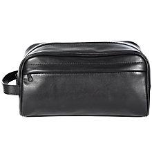 Buy John Lewis Traditional Leather Wash Bag, Black Online at johnlewis.com