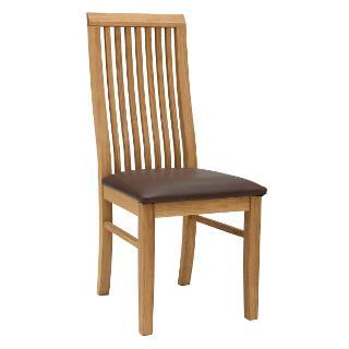 Buy John Lewis Henry Dining Chair Leather Seat, Dark Brown132 Online at johnlewis.com