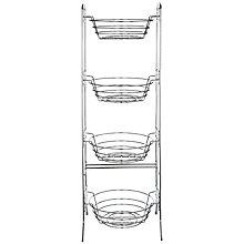 Buy John Lewis Chrome Fruit and Vegetable Stand, 4 Tier Online at johnlewis.com