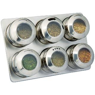 Buy House by John Lewis 6 Jar Magnetic Spice Rack Online at johnlewis.com
