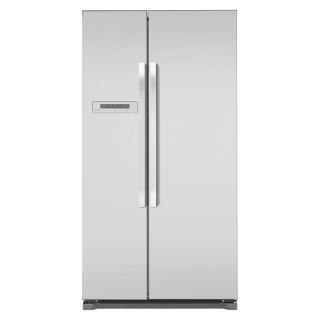 Buy John Lewis JLAFFS2012 American Style Fridge Freezer, Silver Online at johnlewis.com