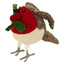 Buy Scandi-chic Mini Standing Robin With Holly Online at johnlewis.com