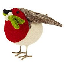 Buy Scandi-chic Small Standing Robin With Mistletoe Online at johnlewis.com