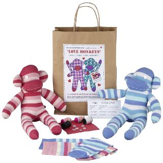 Buy Sock Creatures Love Monkeys Kit Online at johnlewis.com